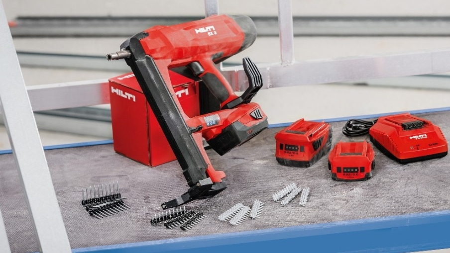 BX 3 is the cordless, battery-powered nailer designed for hassle-free fastenings to concrete