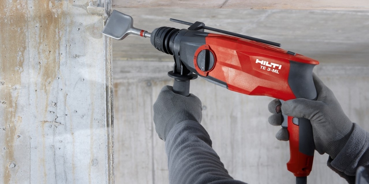 Hilti TE 3-ML hammer drill with its powerful motor