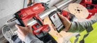 BX 3-ME 02 Cordless nailer 22V cordless nailer for electrical and mechanical applications Applications 1