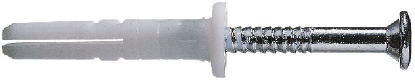 HPS-1 R Economical plastic impact anchor with A2 SS screw